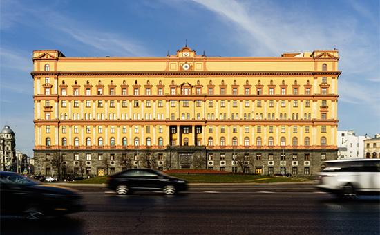 Здание ФСБ России на лубянской площадив Москве