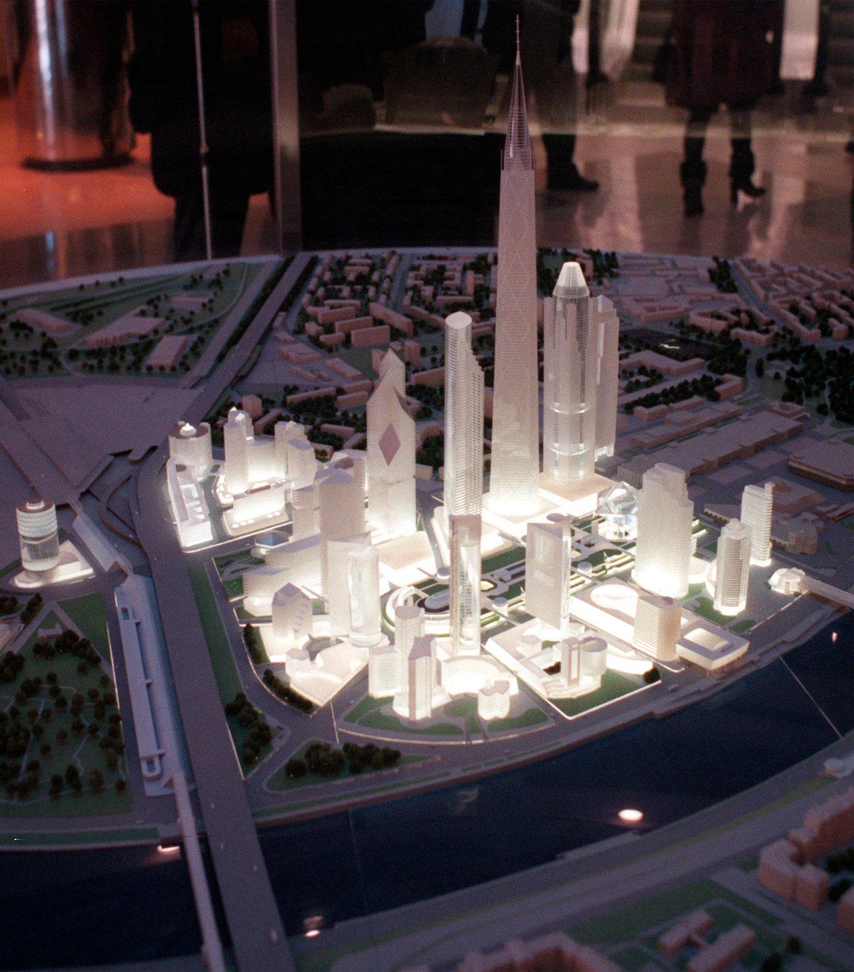 Макет делового центра «Москва-Сити». 1998 год