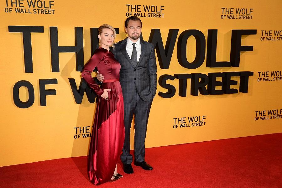 Актеры Марго Робби и Леонардо Ди Каприо на премьере фильма «Волк с Уолл-стрит» в Великобритании