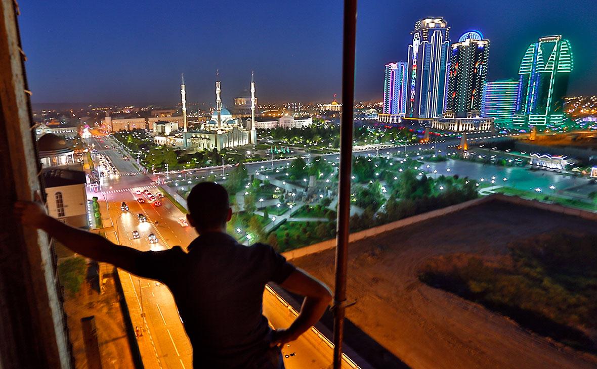 Вид на мечеть «Сердце Чечни» имени Ахмата Кадырова в Грозном