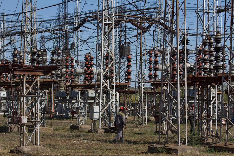 Луганская ТЭС. 18 сентября 2014 года