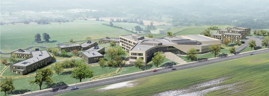 Образовательный кампус  К 2020 году в поселении Сосенское должны построить целый образовательный кампус общей площадью 40 тыс. кв. м. Смысловым центром нового кластера станет школа в форме трех лепестков. Школа будет рассчитана на 1 тыс. учеников, по соседству планируется возвести семь общежитий — четыре для школьников и три для преподавателей