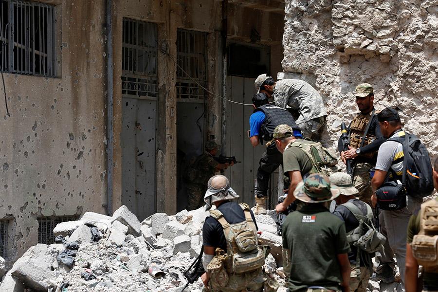 Бойцы отряда особого реагирования. 4 июля 2017 года
