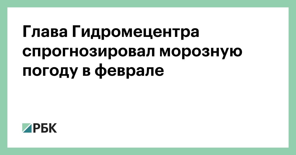 Глава Гидромецентра спрогнозировал морозную погоду в феврале