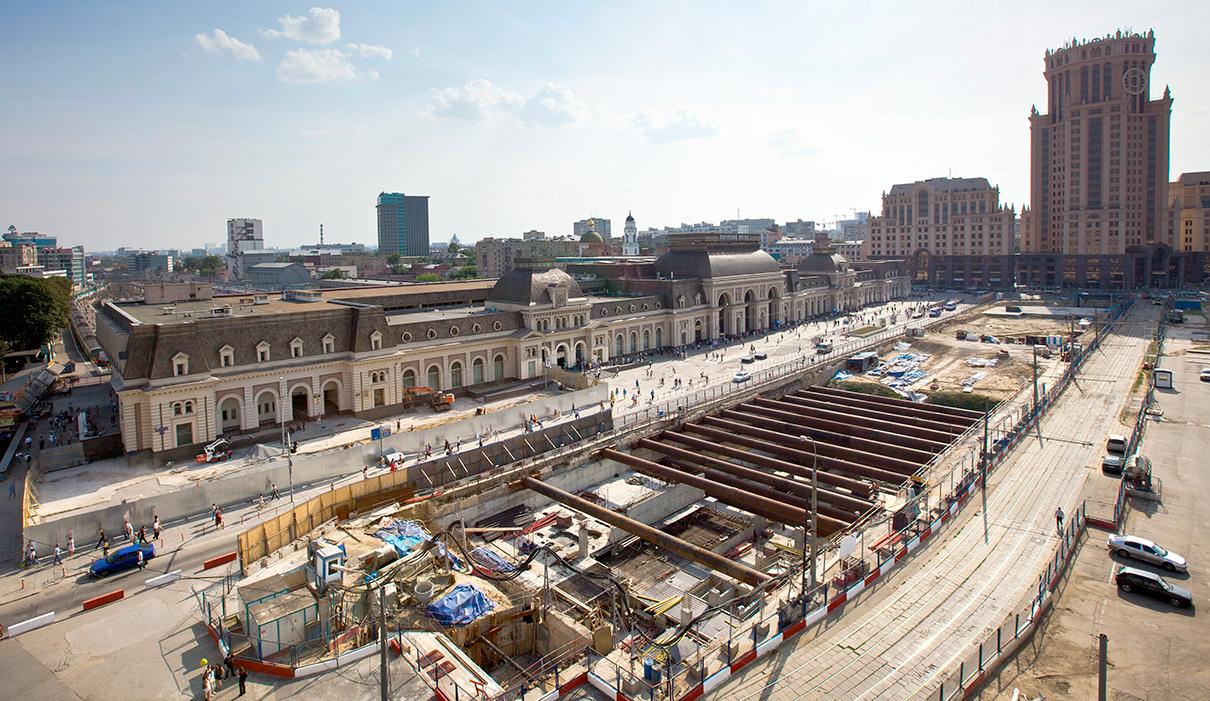 Вид на Павелецкий вокзал в 2011 году