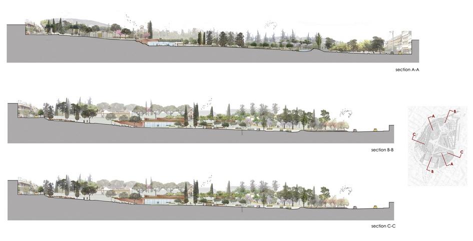 Дизайн-проект парка вразрезе