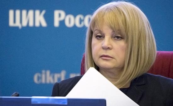Элла Памфилова напервом заседании нового состава Центризбиркома 28 марта 2016 года