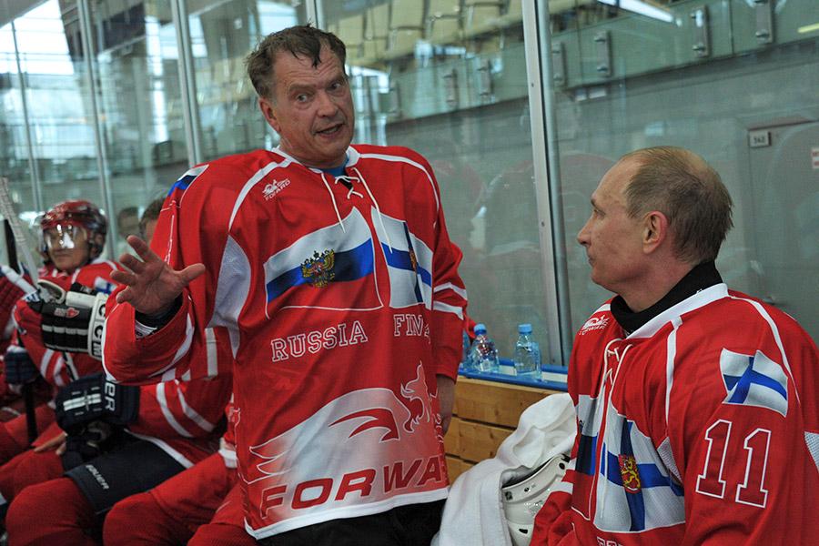 Саули Ниинистё и Владимир Путин. 2013 год