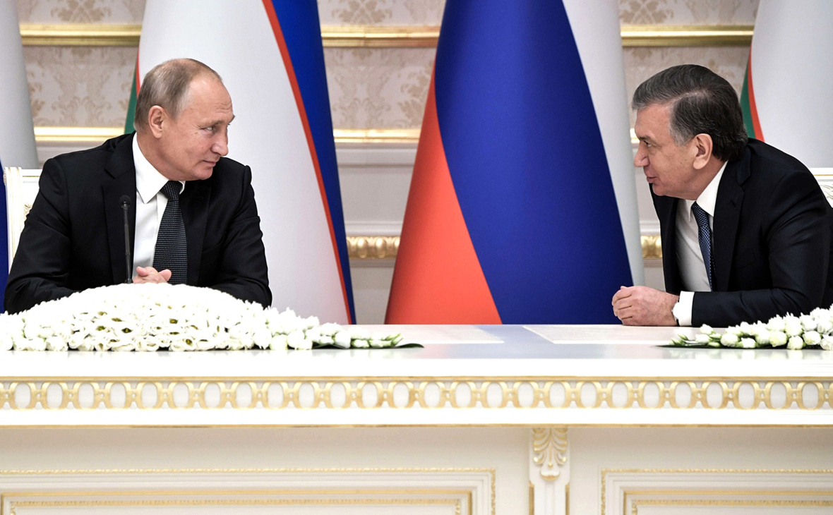 Владимир Путин и Шавкат Мирзиёев