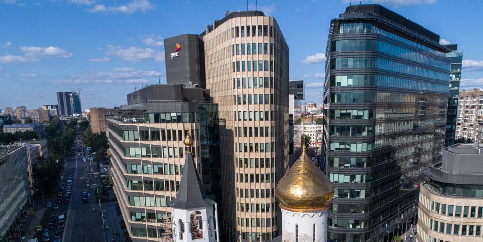 Вид на офисный центр «Белая площадь»
