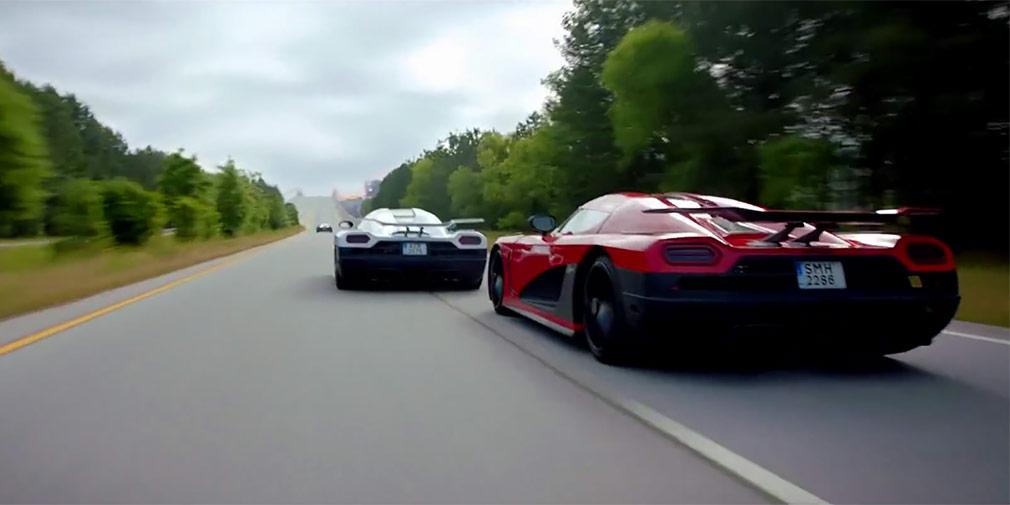 «Жажда скорости» (2014)  Этот фильм, снятый по мотивам известной компьютерной игры, представляет из себя сплошной экшн из гонок и преследований. Аарон Пол гоняет на специально созданном для фильма Ford Mustang на базе Shelby GT500, а из эффектных суперкаров Koenigsegg Agera R, Lamborghini Sesto Elemento, GTA Spano, Saleen S-7, Bugatti Veyron Super Sport и McLaren P-1 к концу фильма уцелеет лишь один. Стоит посмотреть кино хотябы из-за сцены гонки трех Koenigsegg.