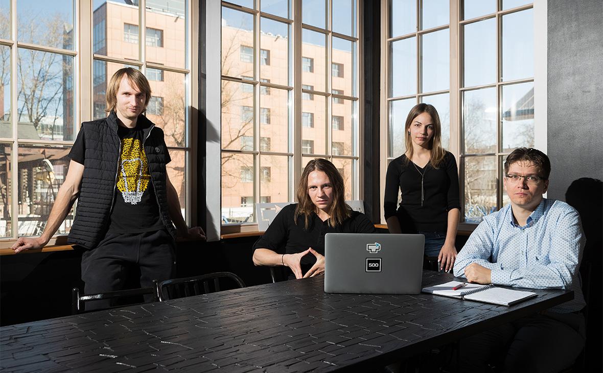 Дмитрий Королев, Никита Ушаков, Мария Хохлова и Александр Соловьев (слева направо)