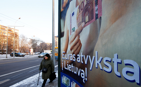 Литовцы перевели в евро 10 млн литов со дня вступления страны в еврозону