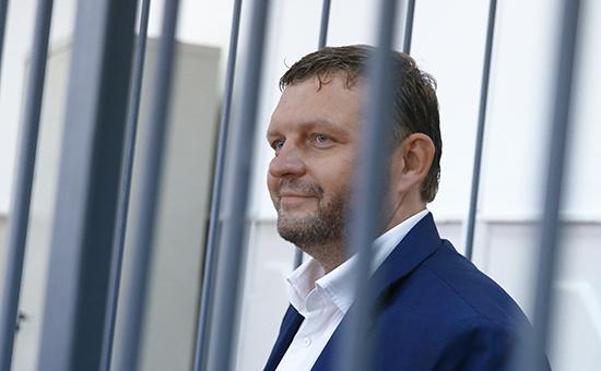 Губернатор Кировской области Никита Белых во время рассмотрения ходатайства следствия об избрании меры пресечения.25 июня 2016 года