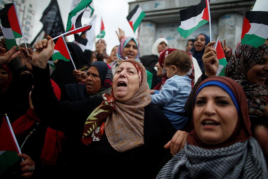 Протестующие в Газе