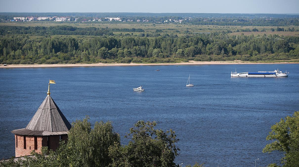 Нижний Новгород. Вид на Волгу