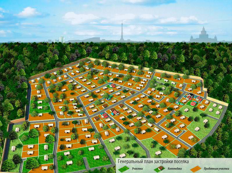 Генплан поселка, 2011 год
