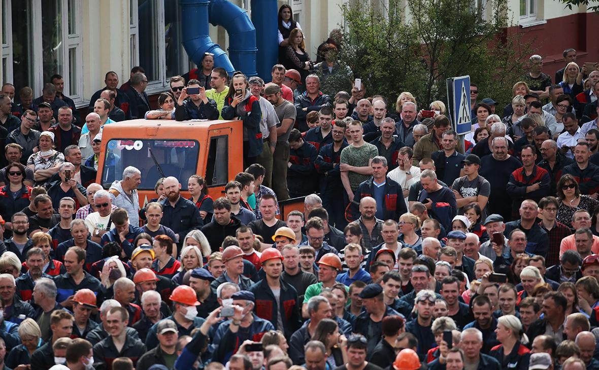 Забастовка работников Минского автомобильного завода