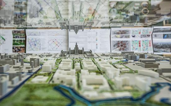Макет научно-технологической долины МГУ