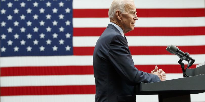 Бывший вице-президент США и кандидат в президенты на выборах 2020 года Джо Байден