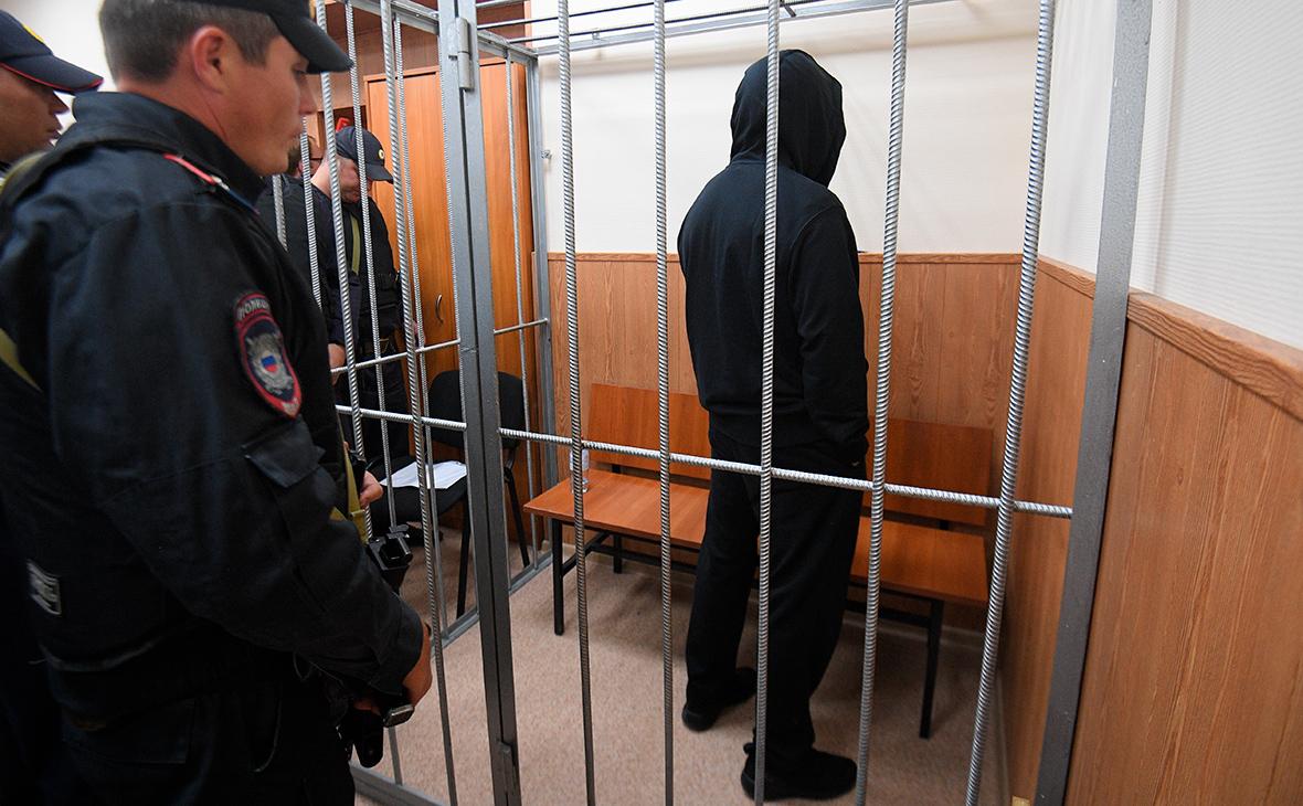 Олег Медведев в зале заседаний Басманного суда
