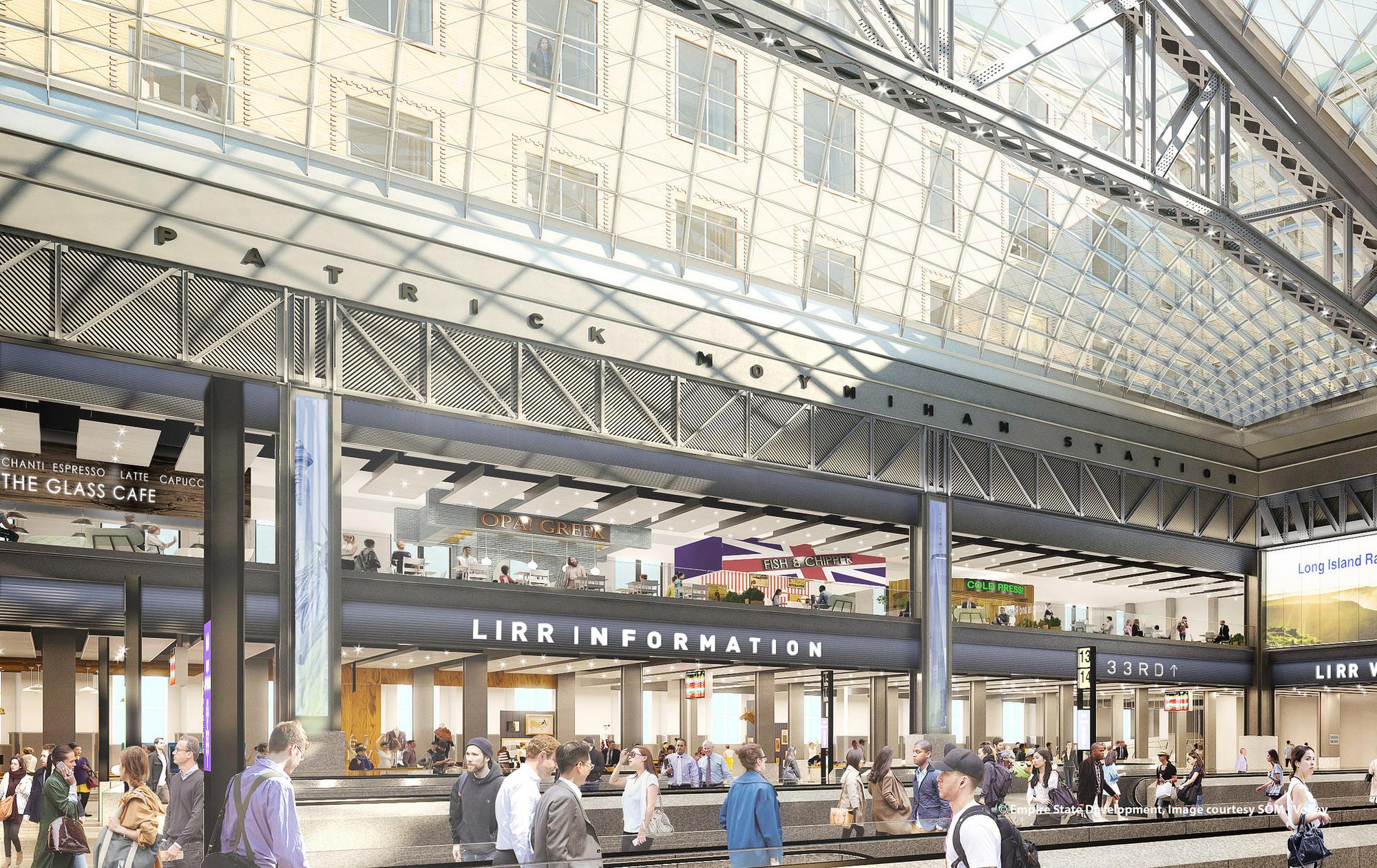 Новый облик Penn Station разработала американская архитектурная студия Skidmore, Owings & Merrill позаказу нью-йоркских властей