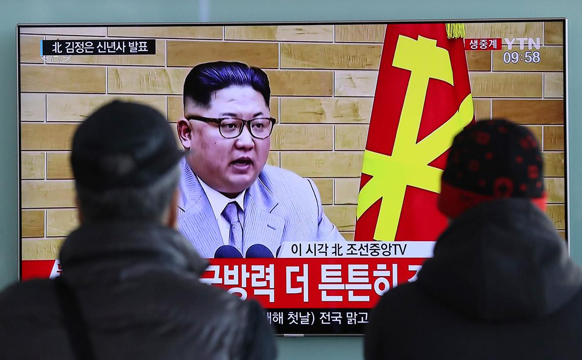 Транслируемая в Сеуле новогодняя речьлидераКНДР о готовности отправить делегацию на Олимпийские игры. 1 января 2017 года