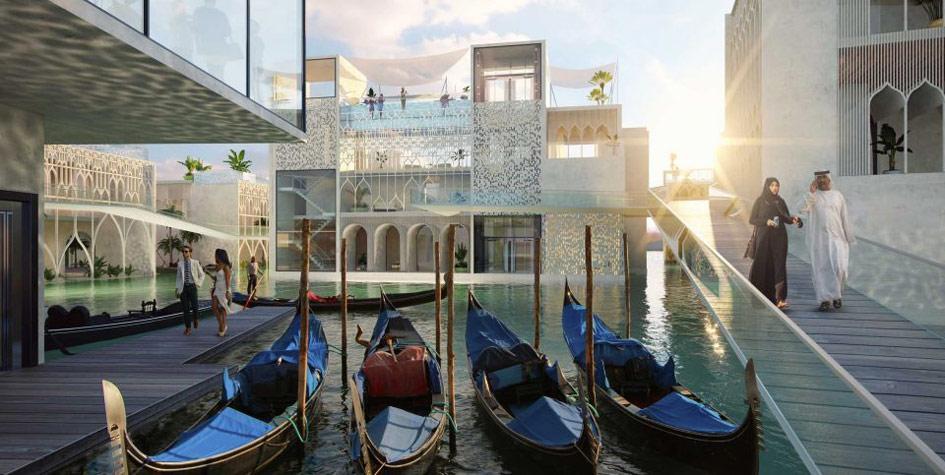Проект плавучего острова в Дубае