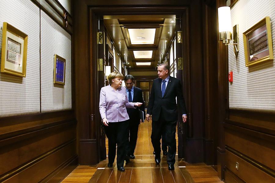 Реджеп Тайип Эрдоган и Ангела Меркель