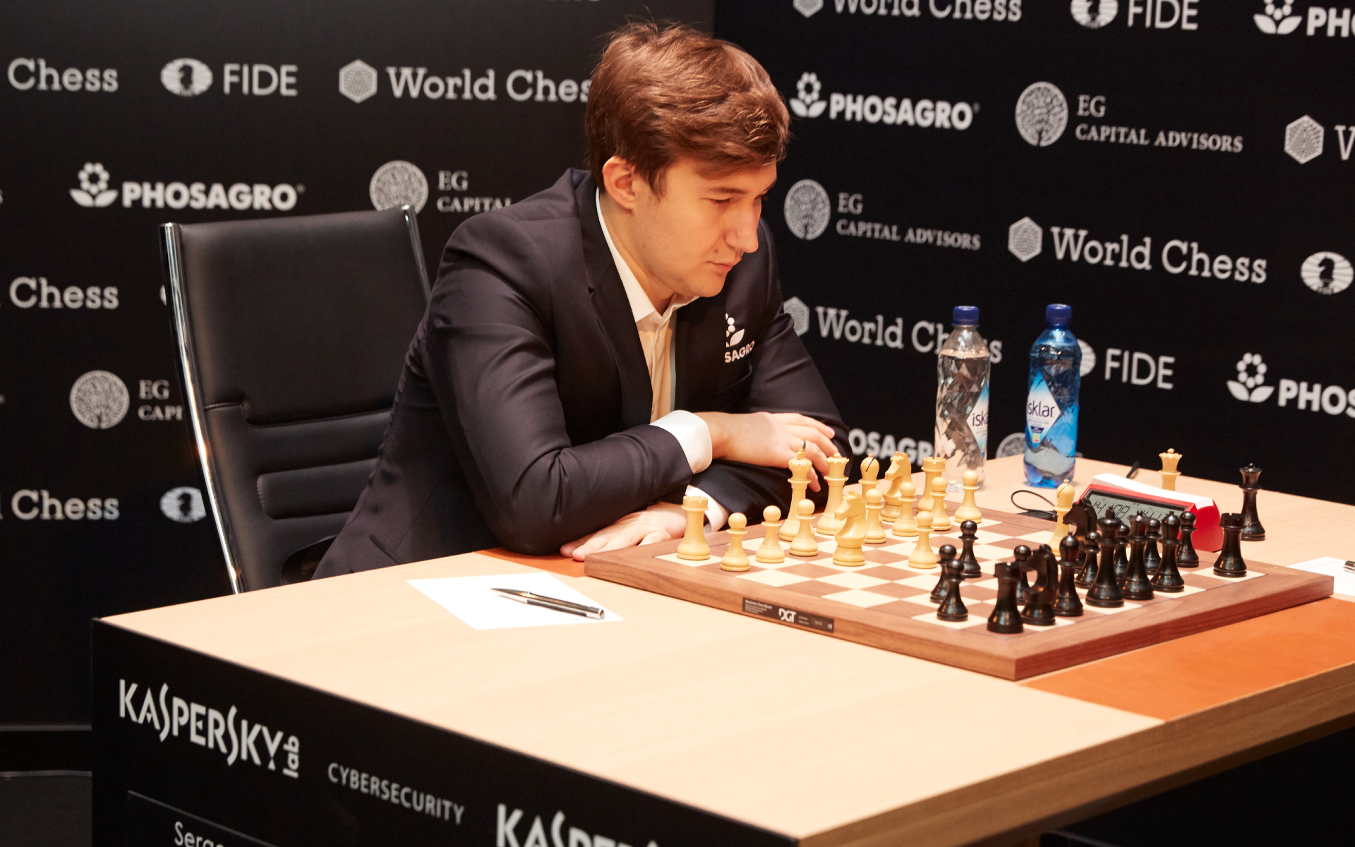 Фото: Сергей Карякин (Sebastian Reuter/Getty Images for World Chess)