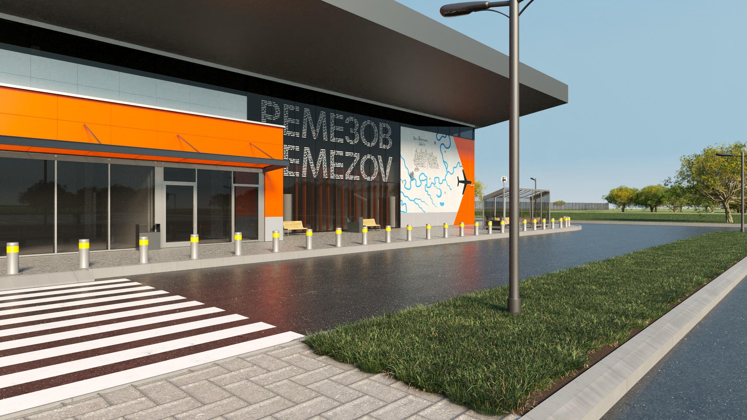 Концепт дизайна разработала команда,которая выполнила оформление терминала внутренних линий Международного аэропорта им. И.В. Курчатова в Челябинске