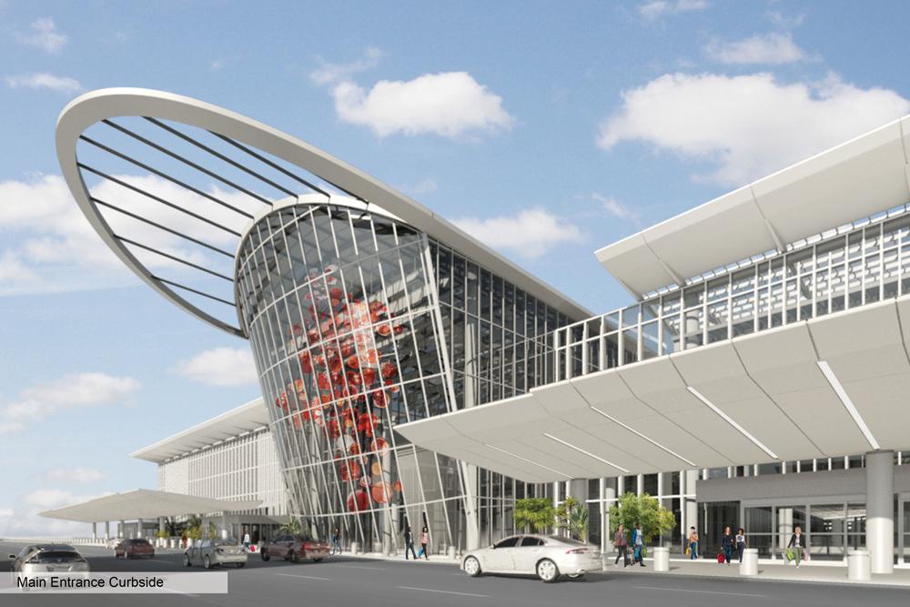 Номинация «Аэропорты итранспортные центры»   Название: Южный терминал международного аэропорта Орландо Место: Орландо Архитекторы: Fentress Architects