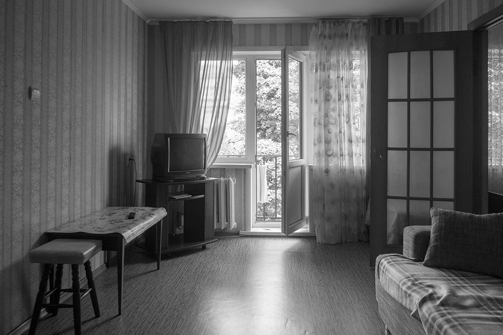 Вид комнаты в типовом советском доме