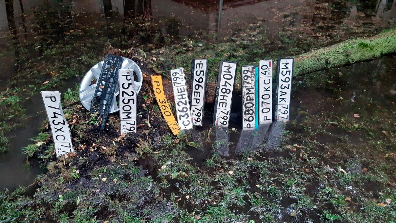 <p>&laquo;Кучка номеров сложена на перекрестке Ильюшина-Красноармейская&raquo;,&nbsp;&mdash; поделились водители.</p>