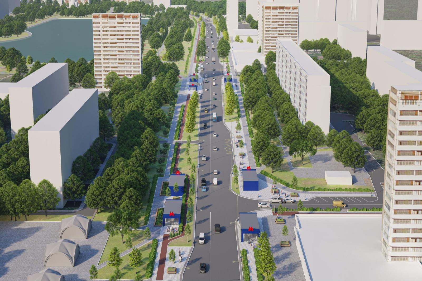 Проект расположения станции метро «Гольяново»