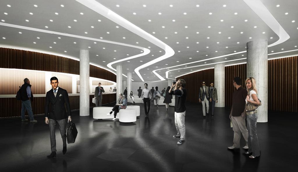 Для зала предлагается нетипичная структура: зрительские места расположатся повсему периметру помещения. Благодаря этому междумузыкантами ислушателями будет созданаатмосфера взаимопонимания, уверены архитекторы