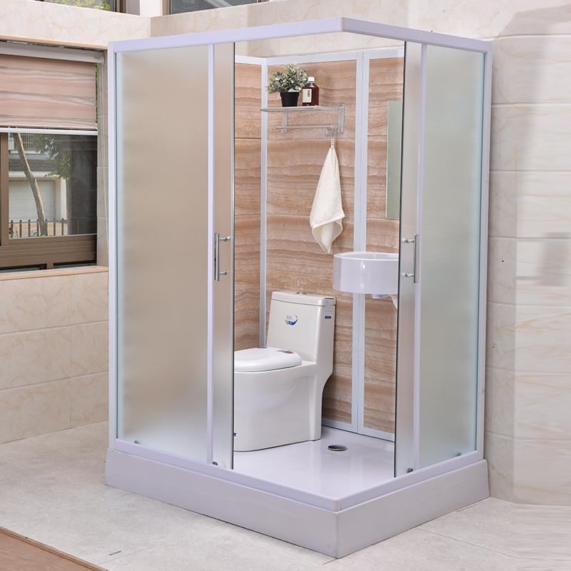 Стеклянный модуль для ванной комнаты