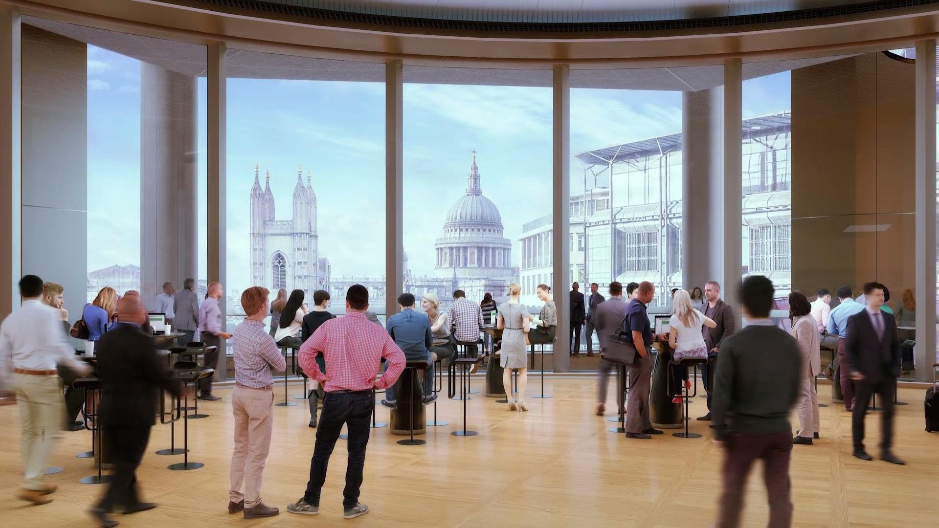 Офис находится в пешей доступности от таких знаменитых и старых зданий, как Банк Лондона и собор Святого Павла