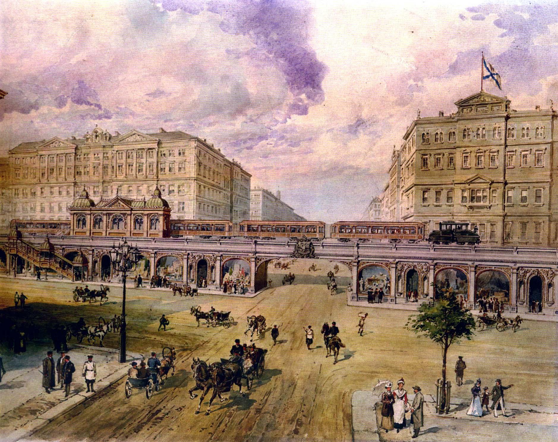 Фото:Проект Петербургского метрополитена П. И. Балинского (1900-е)