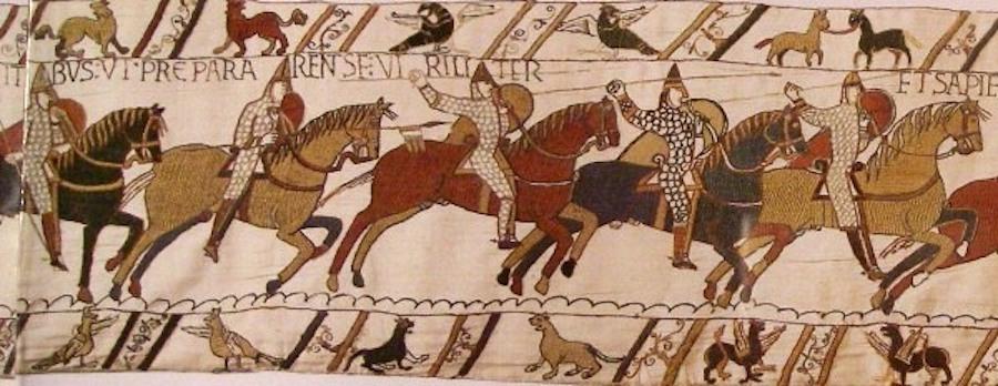 Средневековый ковер с изображением рыцарского турнира, 1085 год