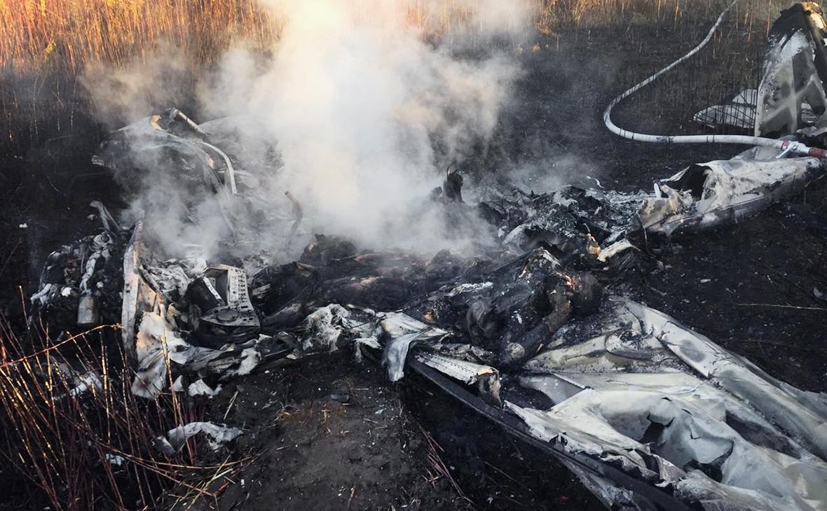 Два человека погибли при крушении легкомоторного самолета в Подмосковье