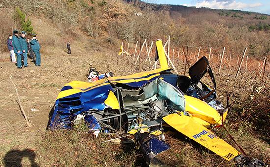 Крушение вертолета Robinson под Алуштой