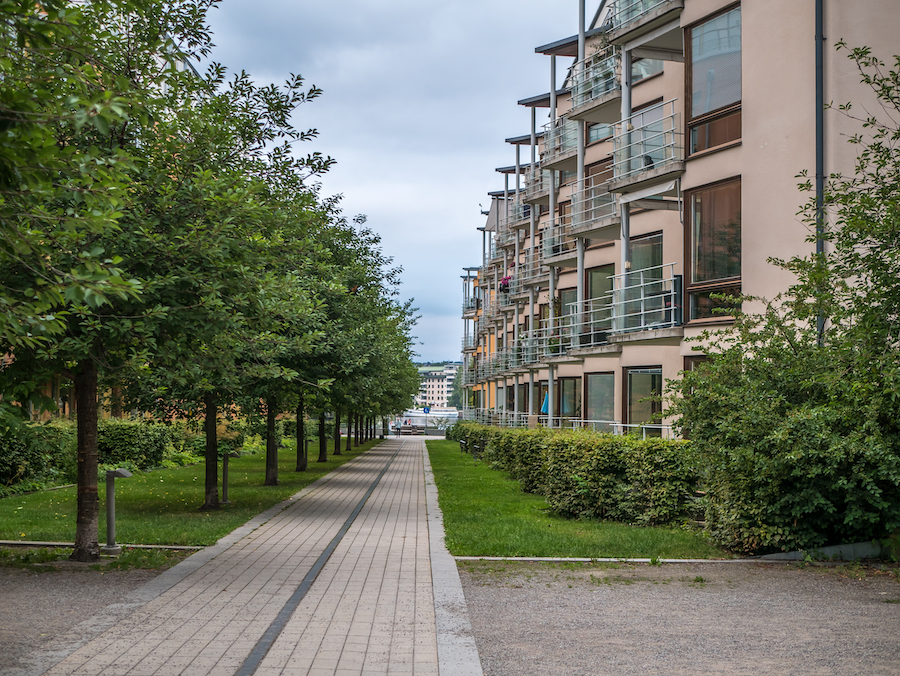 Один из кварталов Hammarby Sjöstad в Стокгольме