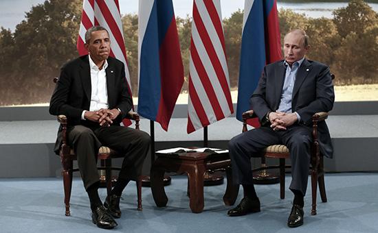 Президент США Барак Обама и президент России Владимир Путин. 17 июля, 2013 год