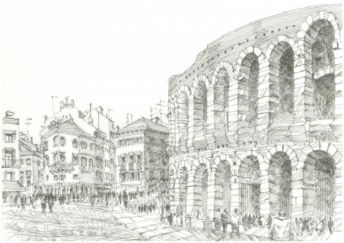 Античный римский амфитеатр, построенный в Вероне