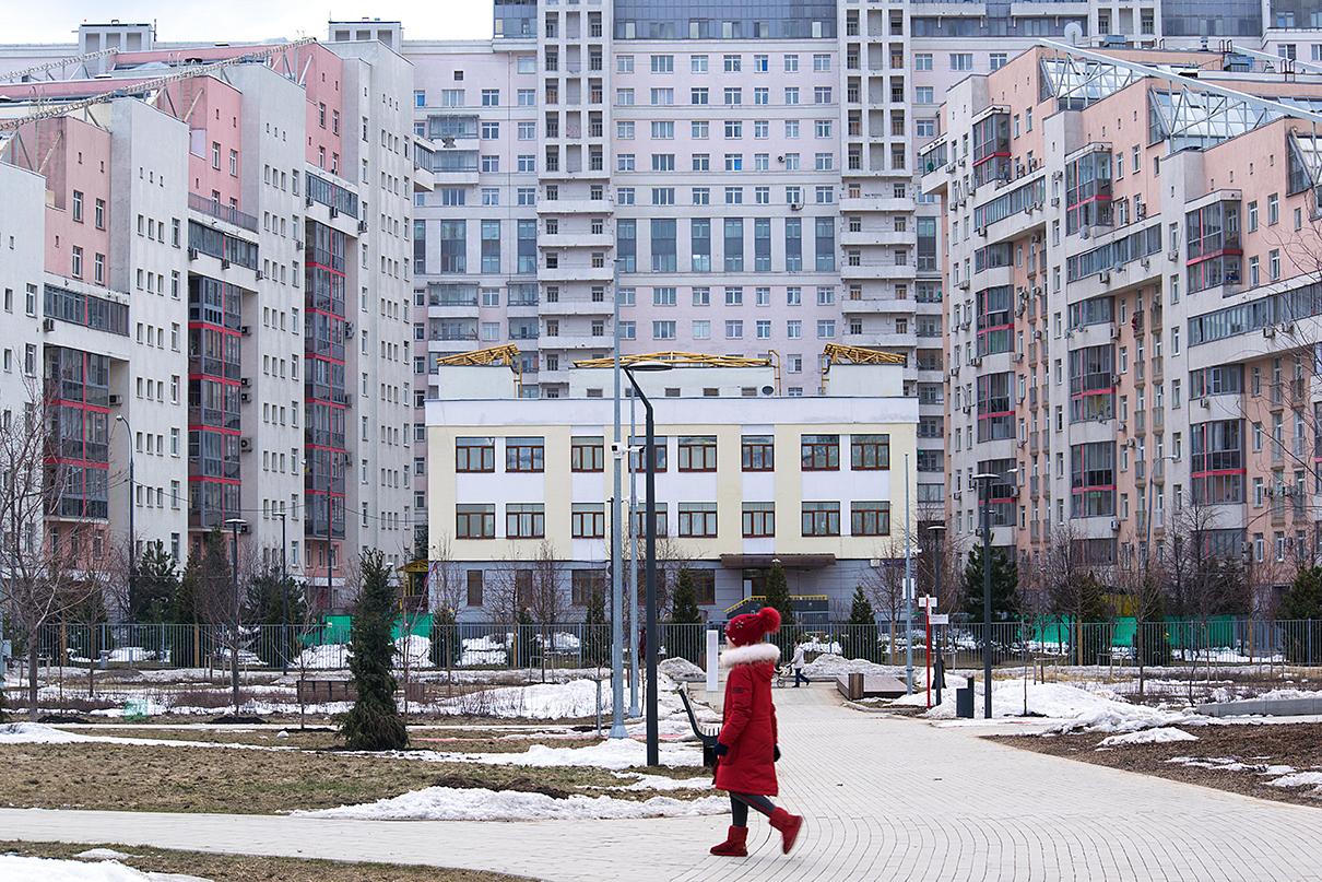 Вид на ЖК «Гранд Парк», расположенный в районе Ходынского поля (САО)