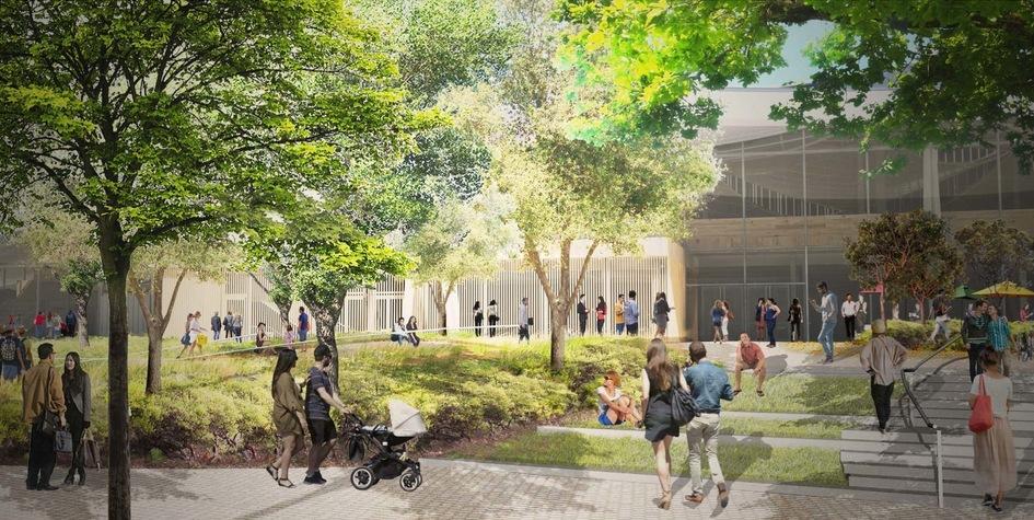 Неотъемлемой частью будущей штаб-квартиры станут общественные пространства подоткрытым небом
