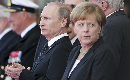 Президент России Владимир Путин и Канцлер ФРГ Ангела Меркель