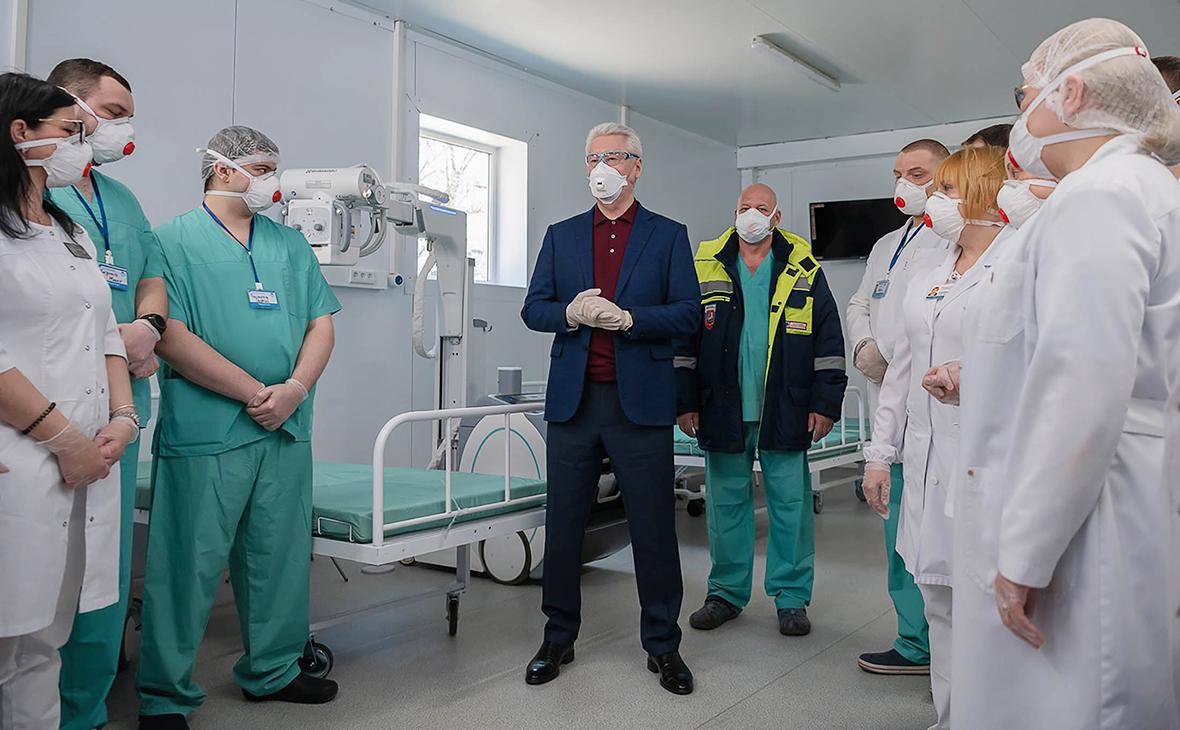 Сергей Собянин (в центре)