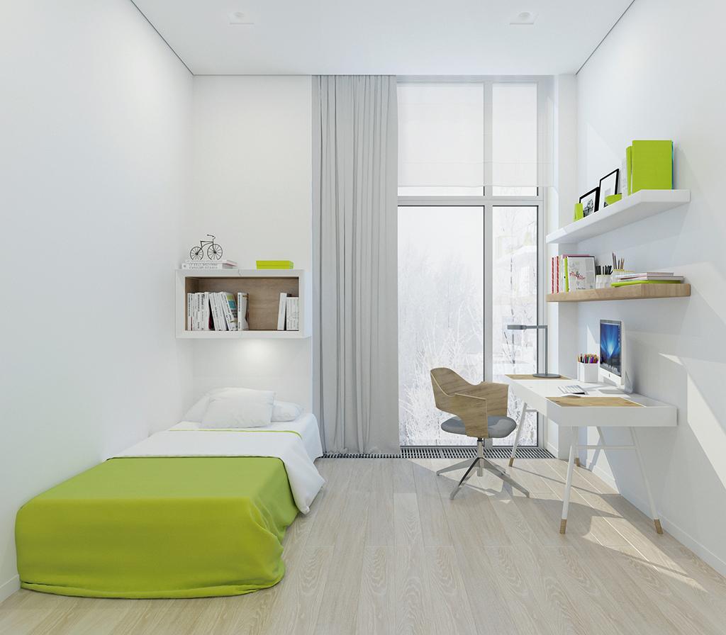 На фото: спальня в жилом комплексе «Тетрис»